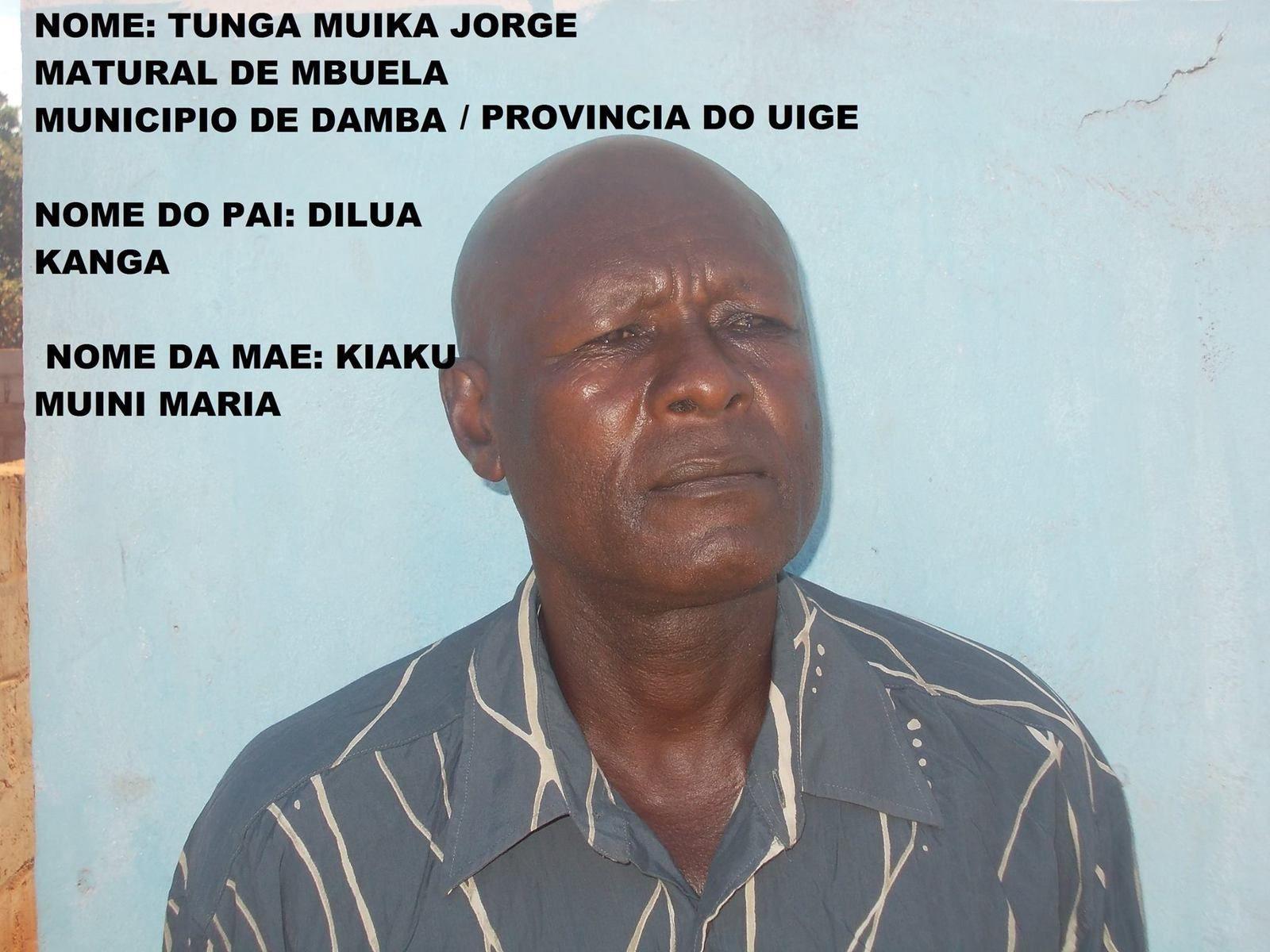 Tunga Mabele, antigo futebolista do F.C Uíge e dos Construtores, procura a sua fámília.