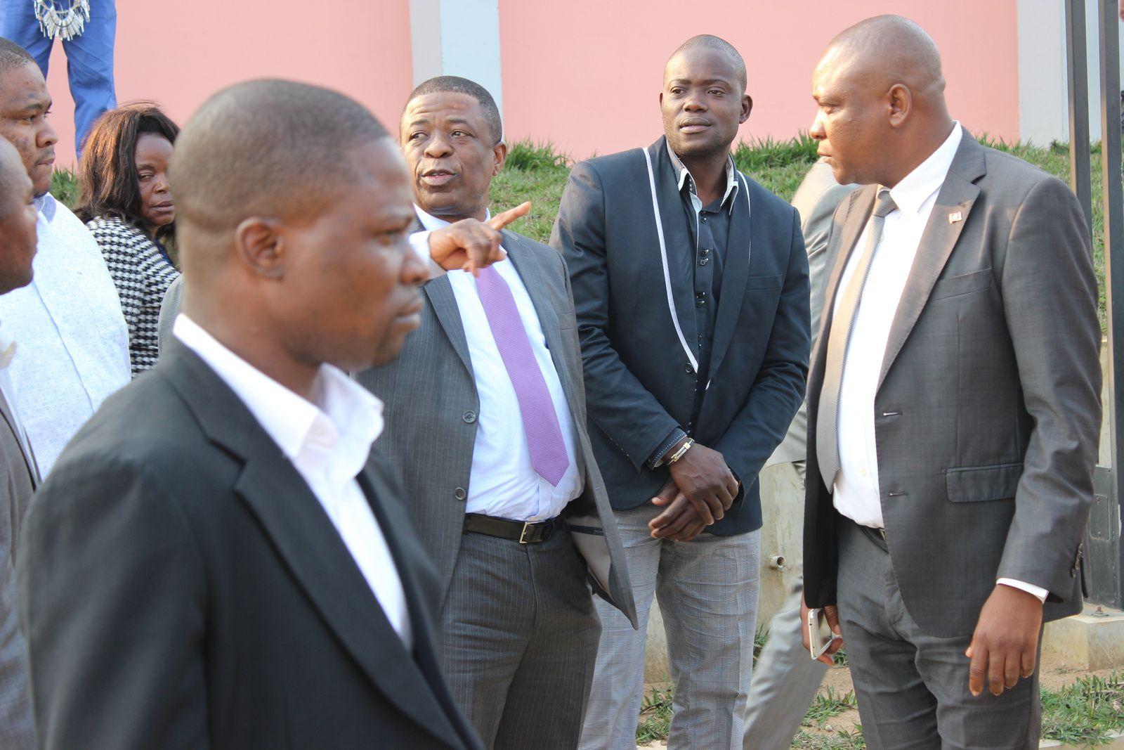 O Sr. Governador visitou o futuro Instututo Politécnico da Damba