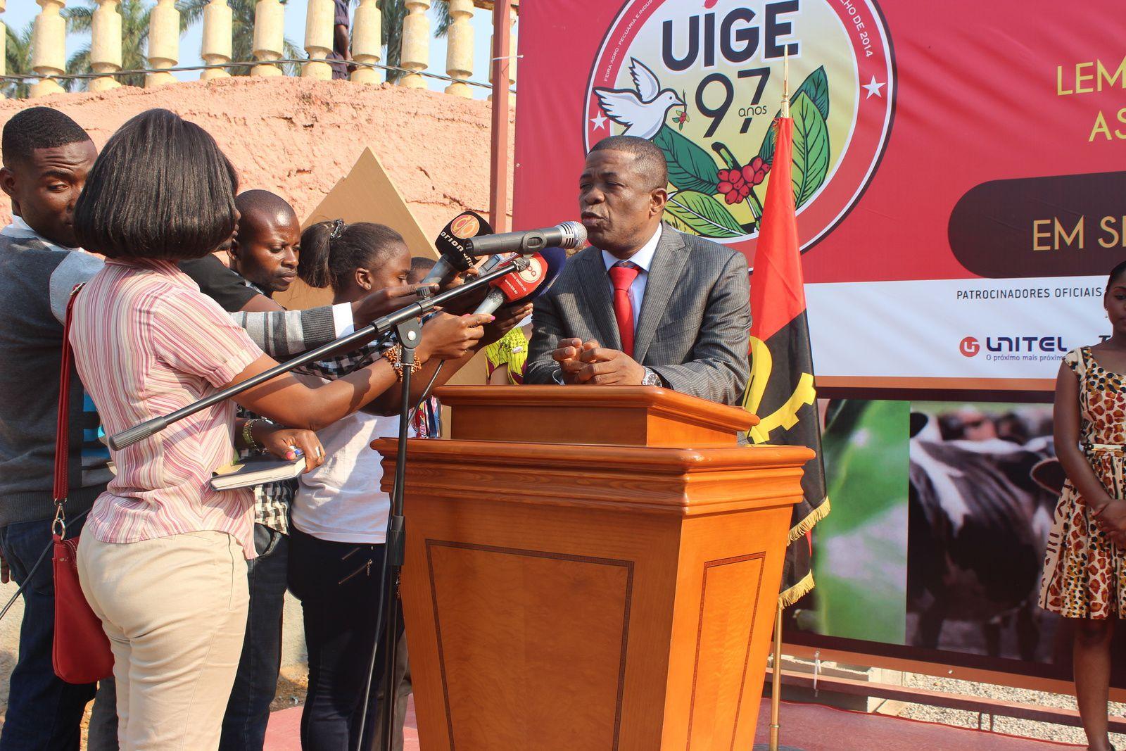 O  governador provincial do Uíge, Paulo Pombolo. Imagem do Muana Damba