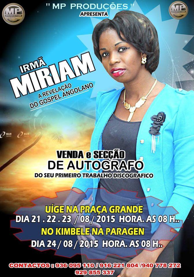 Cantora Miriam vende primeiro DVD de música gospel