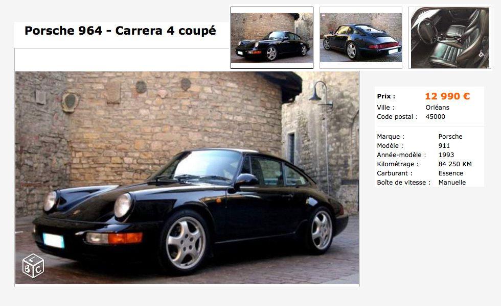 Une Porsche 911 pour moins de 10 000 € ?