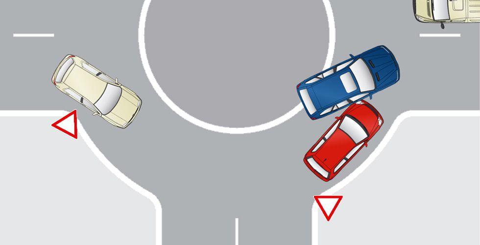 Accident dans un rond-point : qui est en tort ?