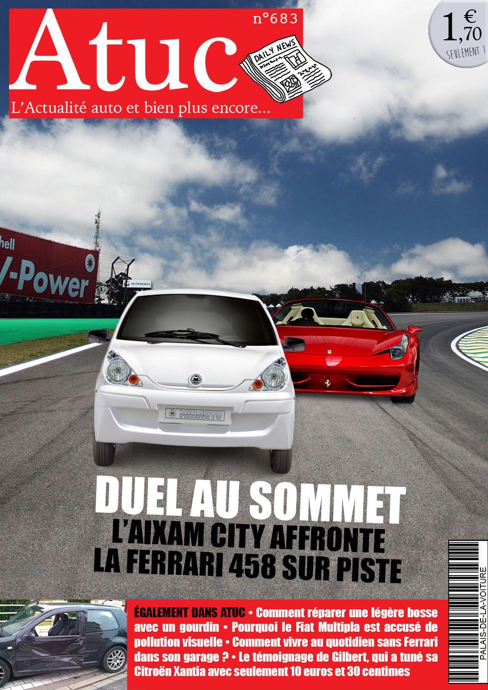 Atuc n°683 • L'Aixam City affronte la Ferrari 458 Italia dans un duel au sommet