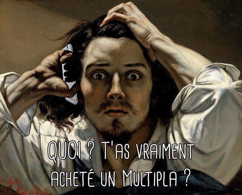 """7 # Détournement de """"Le désespéré"""", de Courbet"""