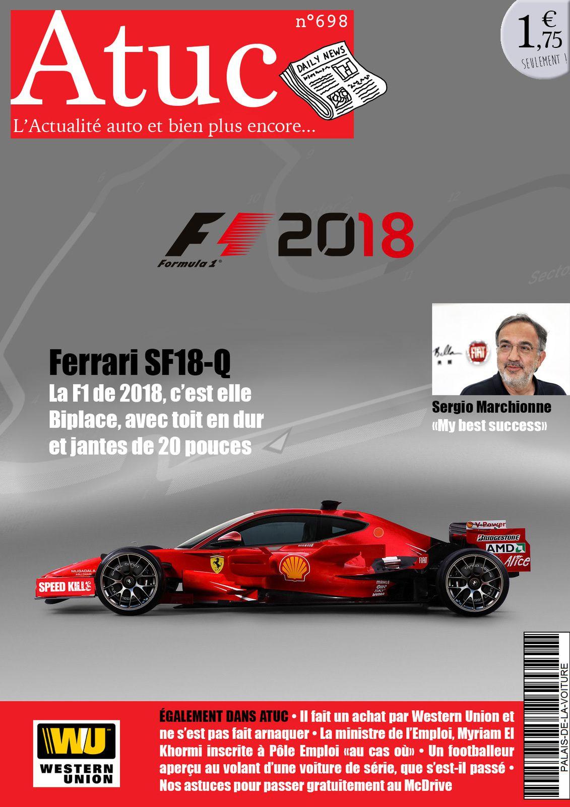 Atuc n°698 • La F1 Ferrari de 2018 déjà dévoilée