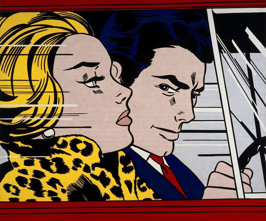 """In the car"", de Roy Lichtenstein. Source photo : www.roylichtenstein.com"