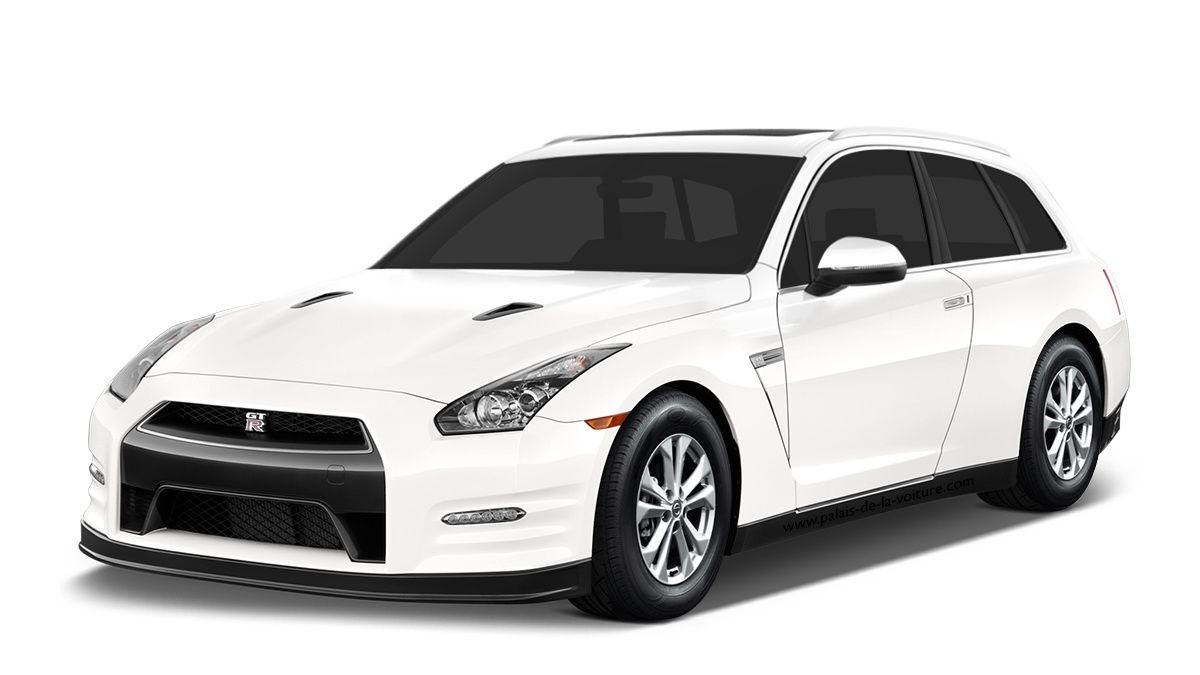 La Nissan GT-R transformée en break de chasse grâce à la participation de l'immense SUV aux anneaux, l'Audi Q7.