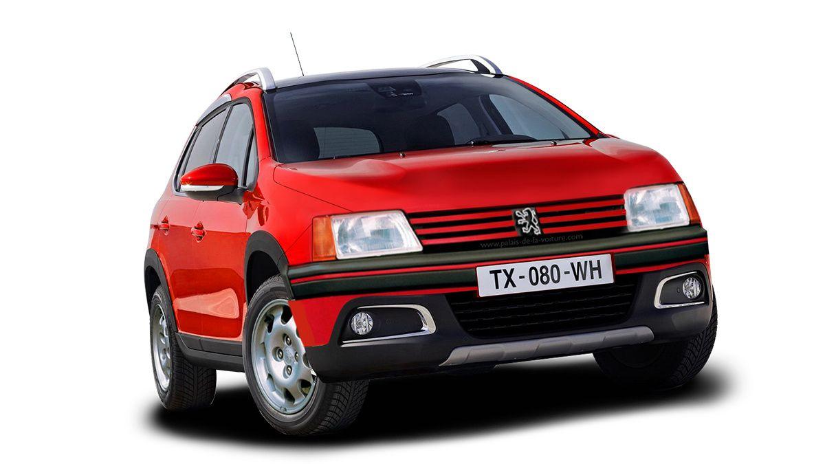 La mythique et très appréciée 205 GTI 1.9 fusionnée au SUV sochalien, le Peugeot 2008.