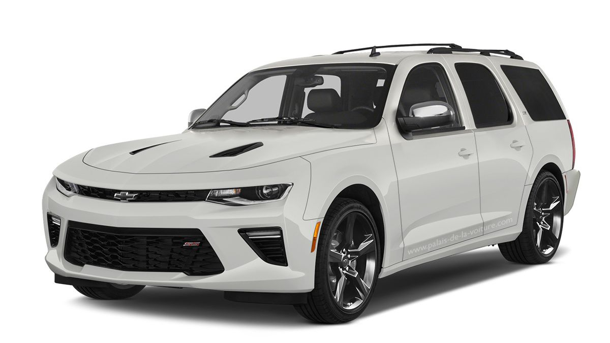Un montage très cohérant mettant en scène la Chevrolet Camaro SS au SUV d'Outre Atlantique le Chevrolet Tahoe.