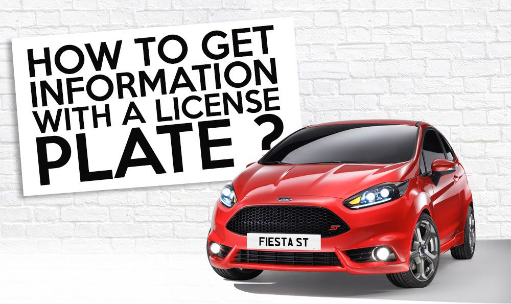 How to get information with a license plate in UK ?