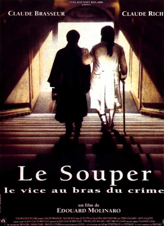 Le vice appuyé sur le bras du crime - Image du Souper avec Claude Rich et Claude Brasseur - Molinaro