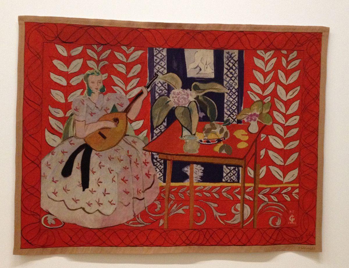 Les Matisse, chasubles, découpages, tableaux, tapis et l'original de Jazz