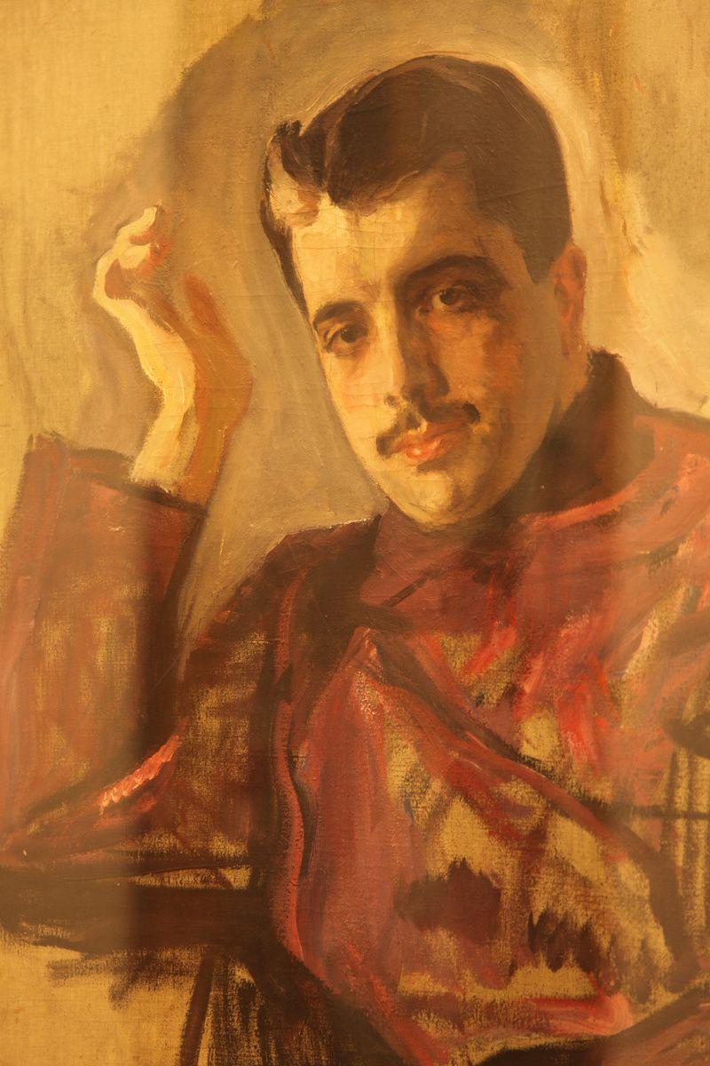 Valentin Serov, portrait de Serguei Diaghilev (1904)