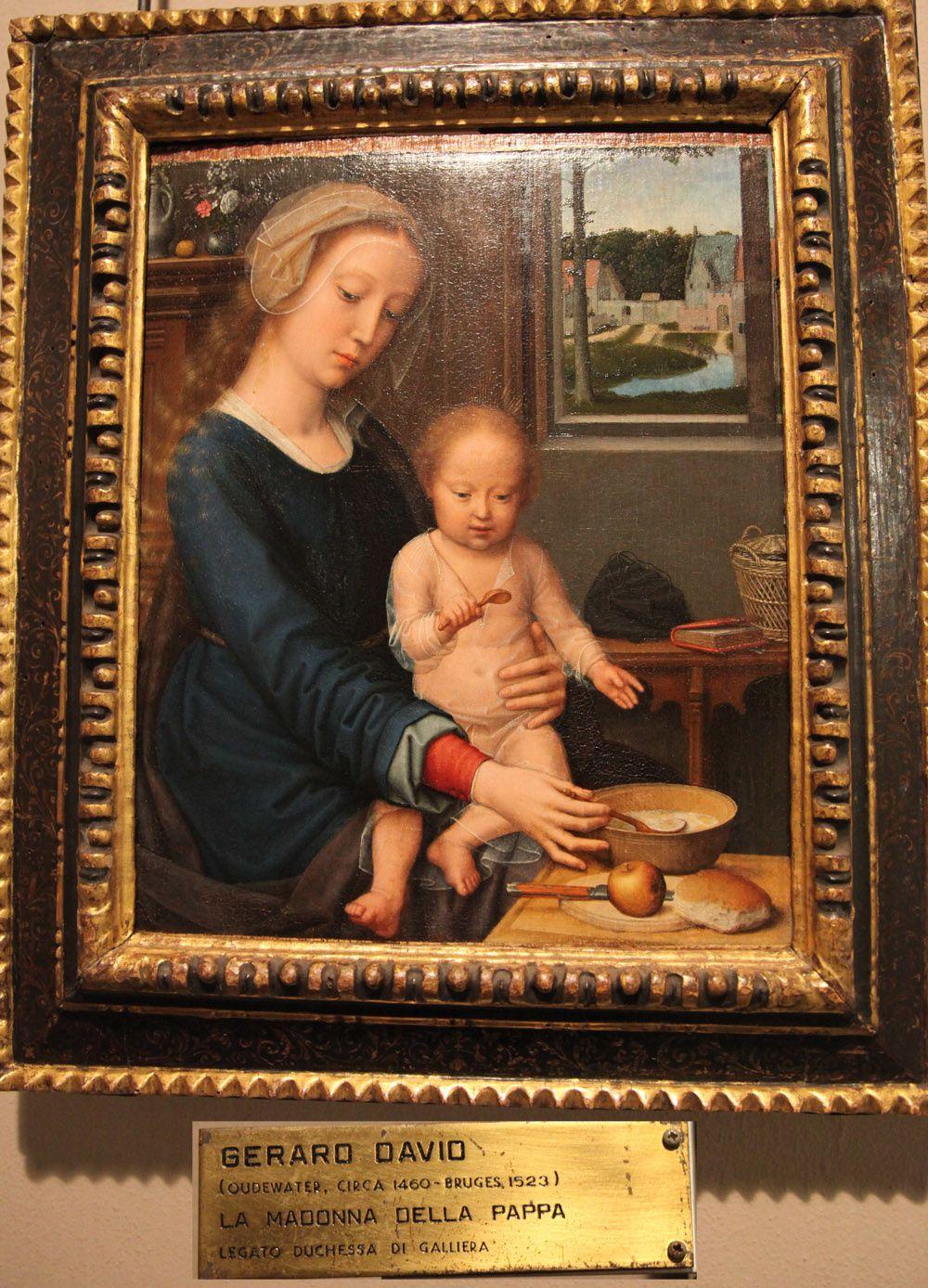 La madonna della pappa (pappa signifie bouillie)