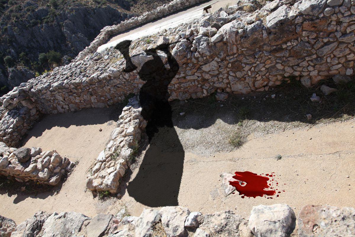 La salle de bain sanglante où Agamemnon fut assassiné par Clytemnestre...