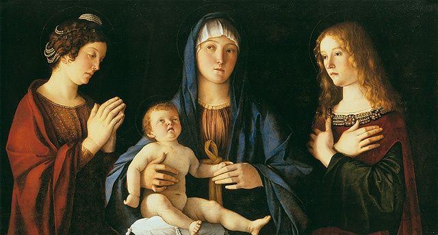 Giovanni Bellini - Madone entre Sainte Catherine et Marie-Madeleine