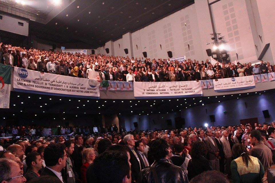 Meeting du FFS, salle Atlas à Bab El Oued. Photo DR