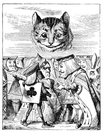 Le Chat du Cheshire par John Tenniel (1865)