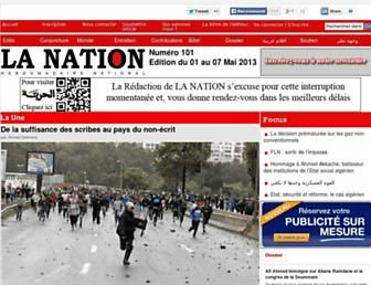 La Nation asphyxiée interrompt sa publication.