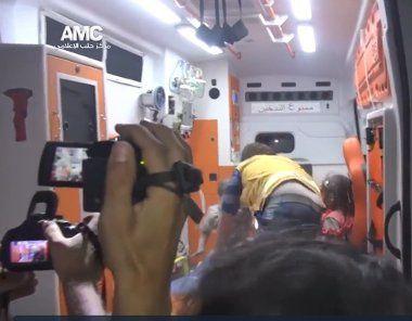 Enregistrement vidéo du petit rescapé d'Alep. DR