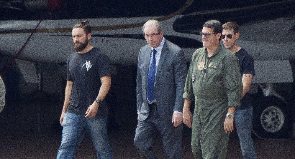 """Arrestation en octobre dernier du """"tombeur"""" de Dilma Rousseff, l'ancien président la Chambre des députés Eduardo Cunha. Photo DR"""