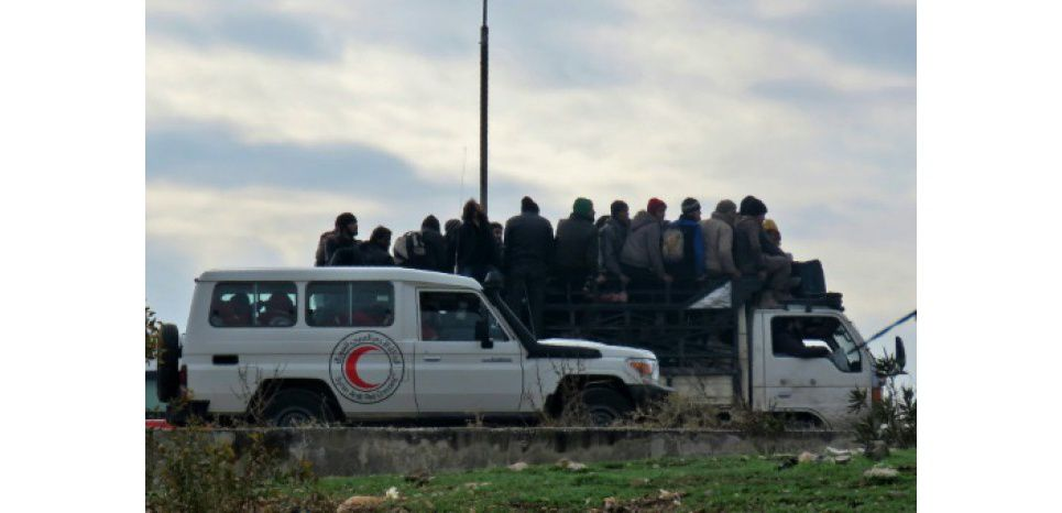 Evacuation d'Alep. Photo DR