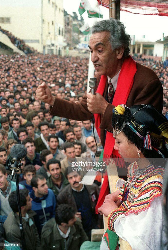 Aït Ahmed aux élections legislatives de 1991. Photo DR