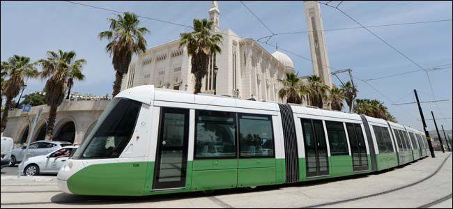Le tramway de Constantine en activité depuis juillet 2013. Photo DR