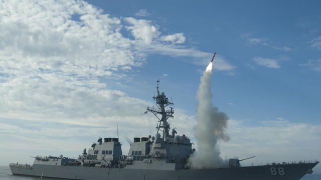 Tir de missile Tomahawk. Photo DR