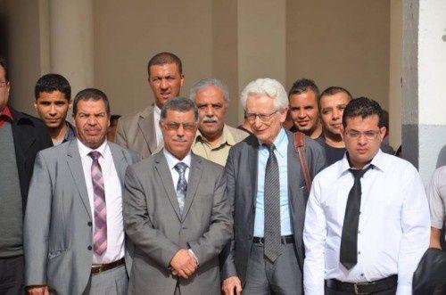 Photo DR. Le professeur Mahiou invité par les chercheurs du Laboratoire Services Publics et Développement de l'université Djilali Liabès de Sidi Bel Abbès