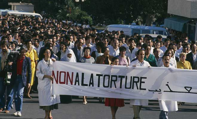 Manifestation en octobre 1988. Photo DR