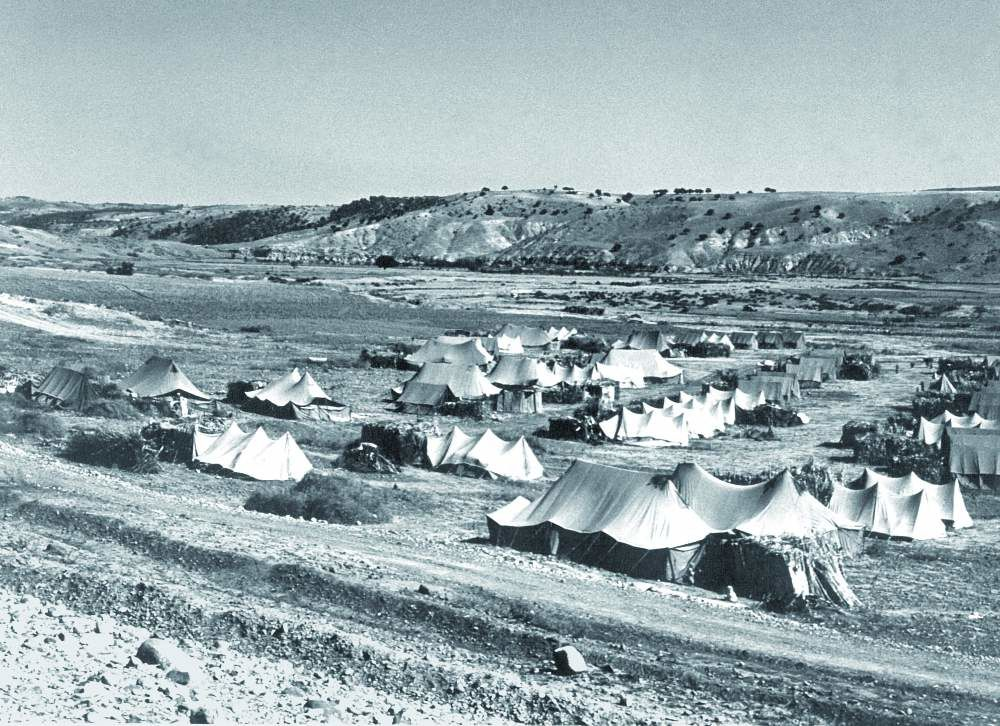le camps de Belkitane dans le Sud Constantinois, en 1961.