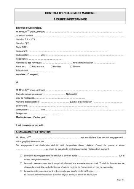 contrat de travail chauffeur livreur Contrat de travail des marins: la nouvelle procédure de résolution  contrat de travail chauffeur livreur