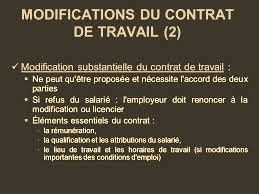modification substancielle du contrat de travail