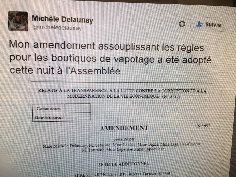 Publicité de la cigarette électronique dans les boutiques: la loi Sapin 2 au secours du vapotage ?