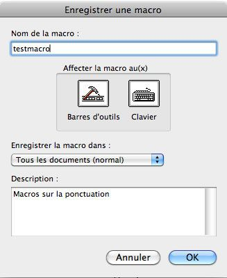 Enregistrer une macro en direct