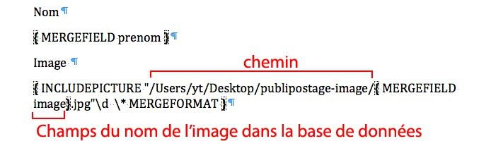 Code propre d'un champ image avec son chemin source et son extension.