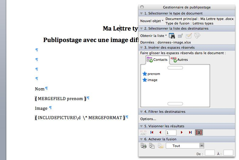 Comment cr er un publipostage avec un champ images - Comment faire un publipostage sur open office ...