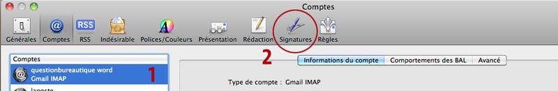 Création d'une signature automatique sous Mail