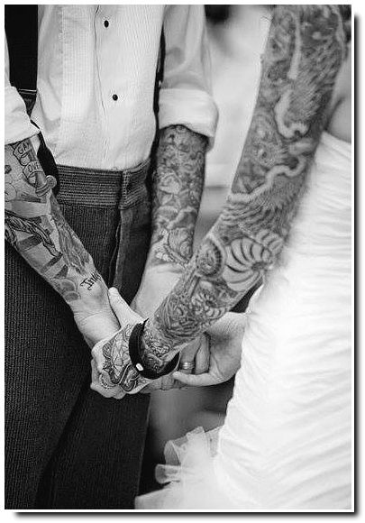 Couples tatoués.
