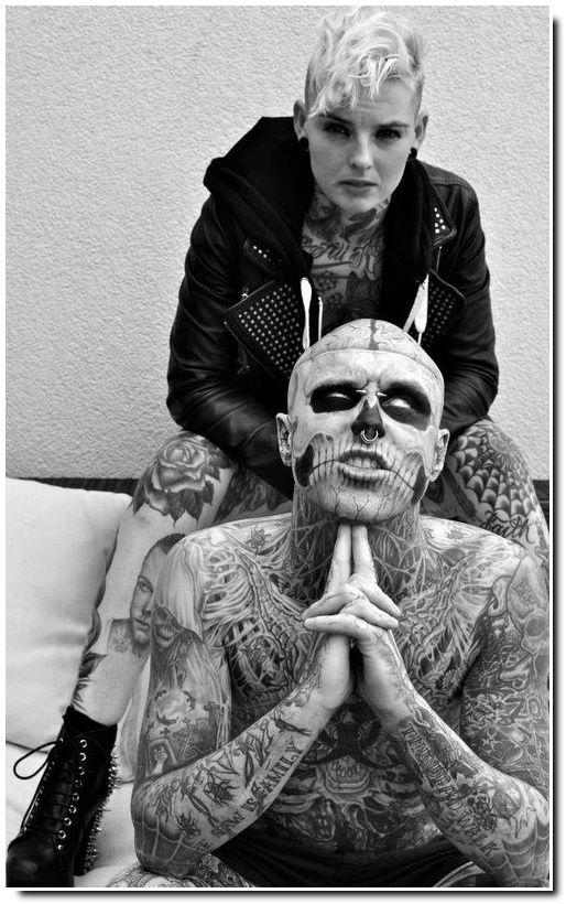 Couples tatoués / Jade Allison & Zombie Boy.