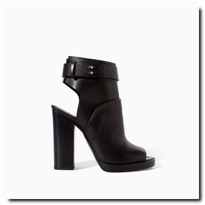 Bottines peep toe - Zara