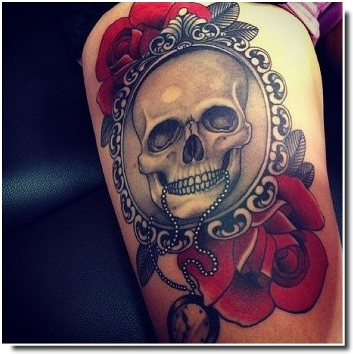 Tatouage Tete De Mort Mexicaine Femme Kolorisse Developpement