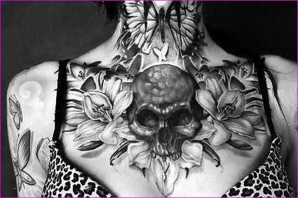 Le tatouage tête de mort.