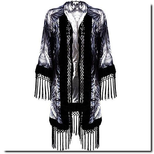 Kimono à franges River Island