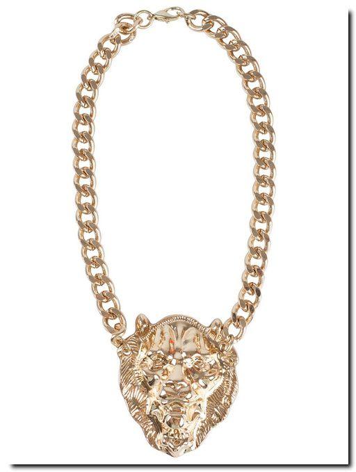 Chaîne dorée avec pendentif tête de lion - NLY TREND - Nelly.com