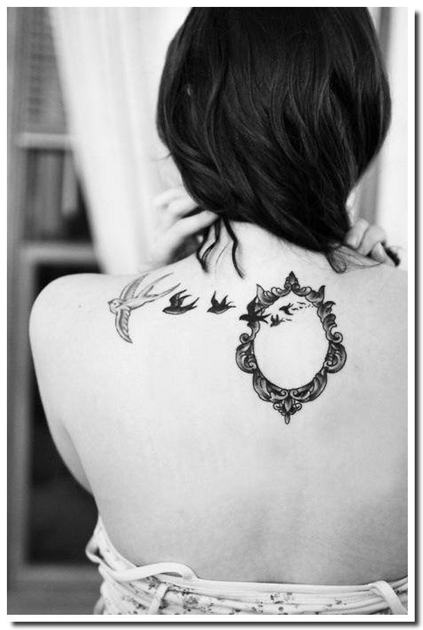 tatouage cadre - miroir