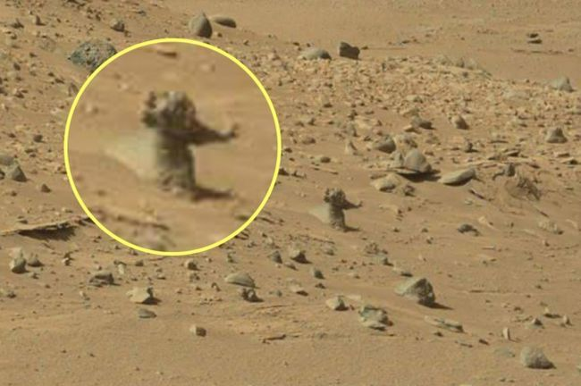 Curiosity a-t-il photographié un homme sur Mars ? photo ! #nasa