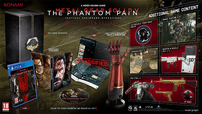 Metal Gear Solid V : The Phantom Pain détails collector ! #PS4 #XboxOne