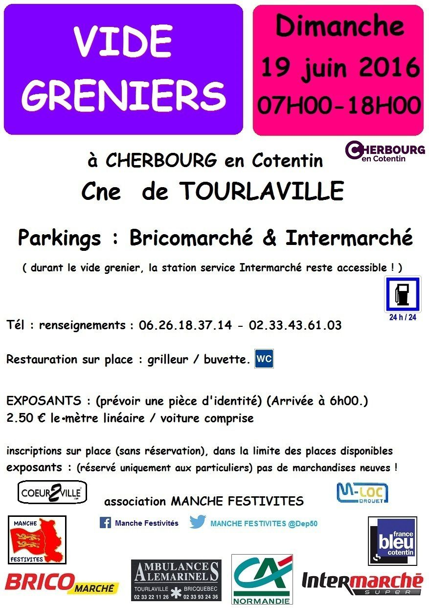 cotentin vide greniers tourlaville 15 mai 19 juin. Black Bedroom Furniture Sets. Home Design Ideas